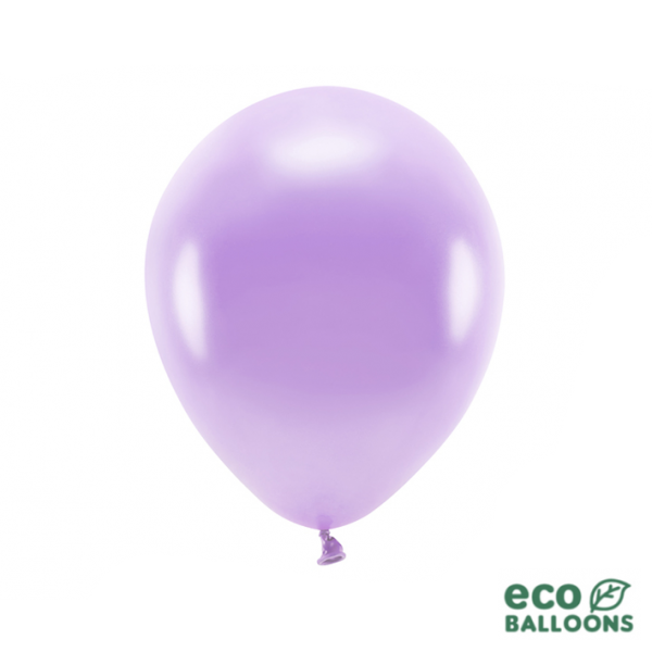 10 ECO-Luftballons - Ø 30cm - Metallic - Lavender