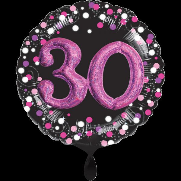 1 Ballon XXL - Sparkling Pink 30