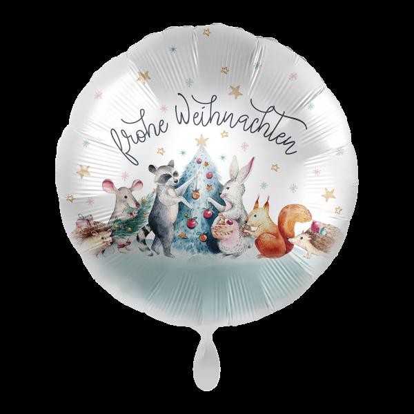 1 Ballon - Christmas Woodland