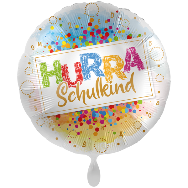 1 Ballon XXL - Hurra Schulkind