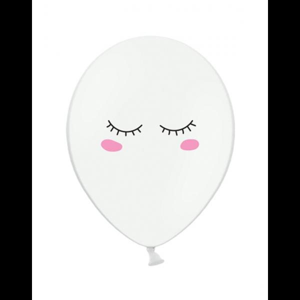 6 Motivballons - Ø 30cm - Smiley