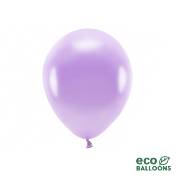 10 ECO-Luftballons - Ø 26cm - Metallic - Lavender