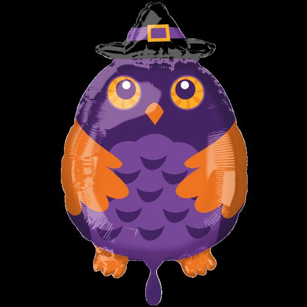 1 Ballon - Witchy Owl