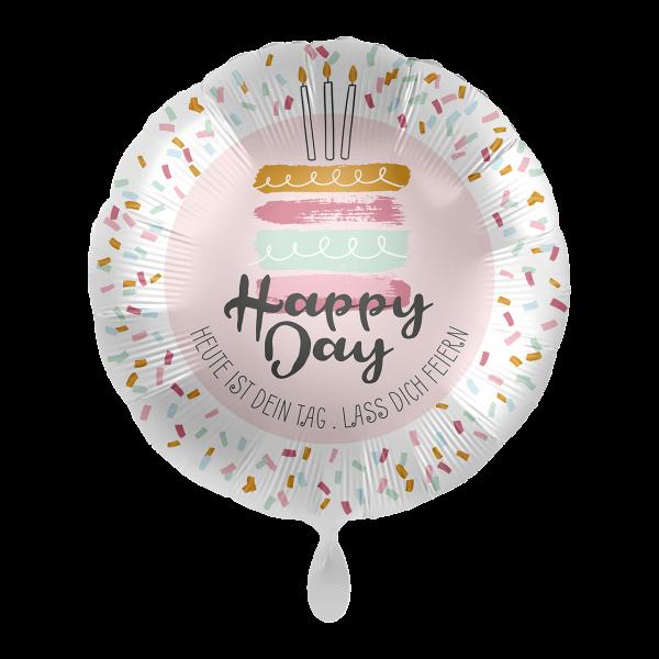 1 Ballon - Happy Day Cake