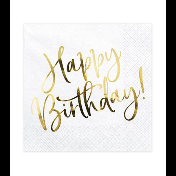 20 Servietten Trend - 33cm - Happy Birthday