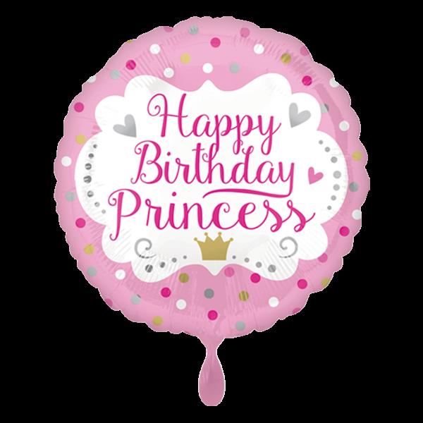 1 Ballon - Happy Birthday Princess