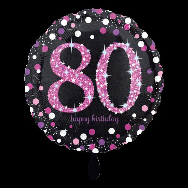 1 Ballon - Pink Celebration 80