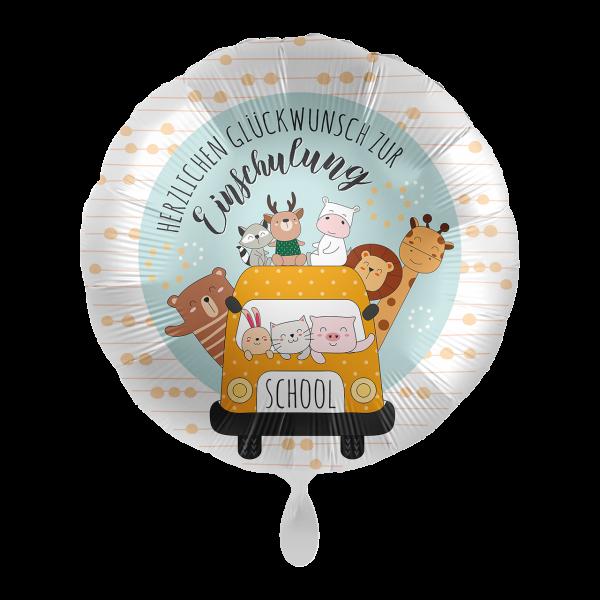 1 Ballon - Schulbus Happy Animals