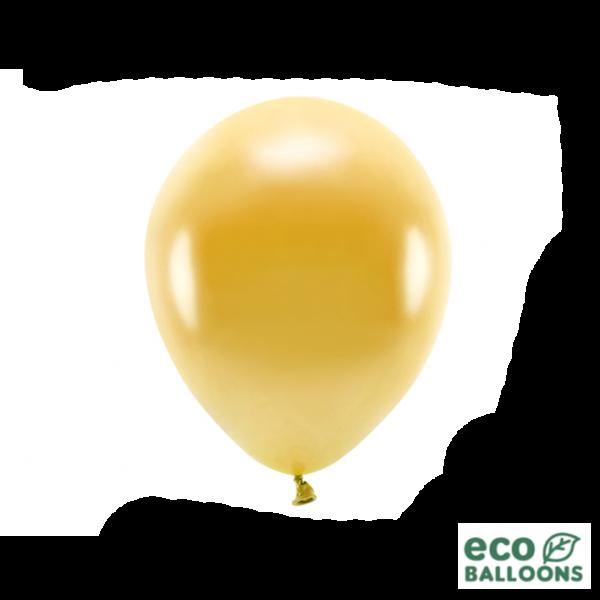 100 ECO-Luftballons - Ø 26cm - Metallic - Gold