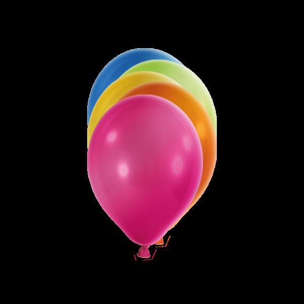 100 Miniballons - Ø 12cm - Metallic - Bunt