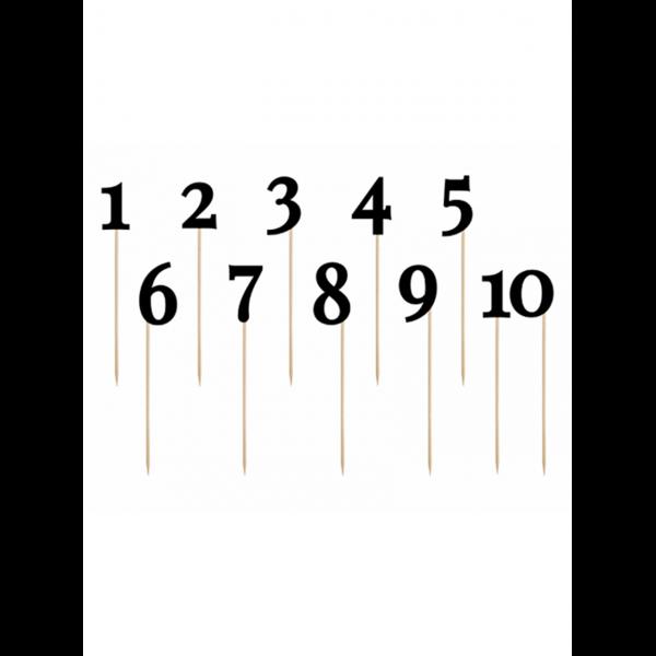11 Cake Topper - Zahlenreihe - Schwarz