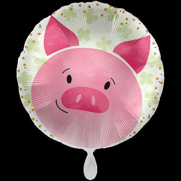 1 Ballon XXL - Glücksschwein