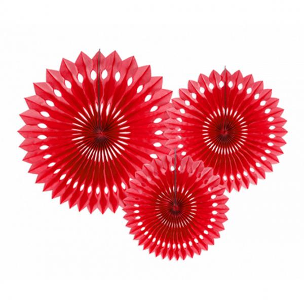 Dekofächer - 3er Set - Rot
