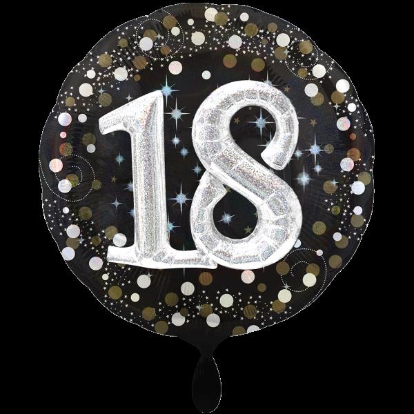 1 Ballon XXL - Sparkling Birthday 18