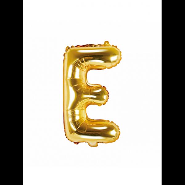 1 Ballon XS - Buchstabe E - Gold