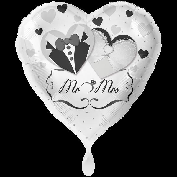1 Ballon XXL - Mr. & Mrs. Brautpaar
