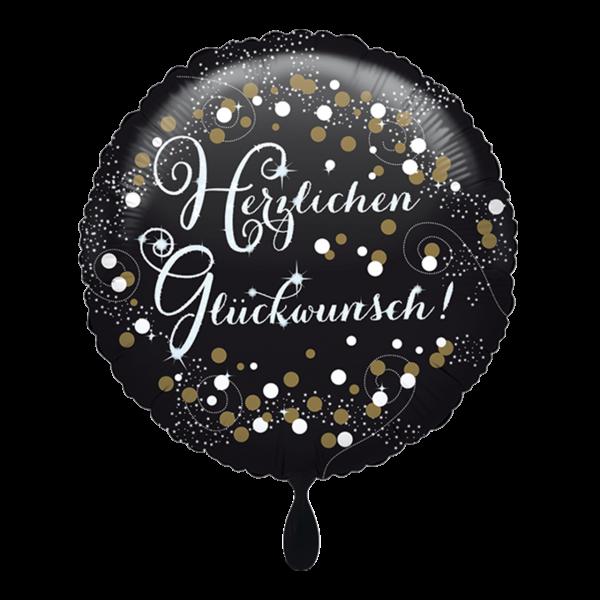 1 Ballon - Herzlichen Glückwunsch