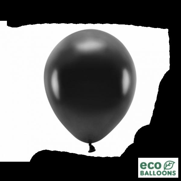 10 ECO-Luftballons - Ø 26cm - Metallic - Black