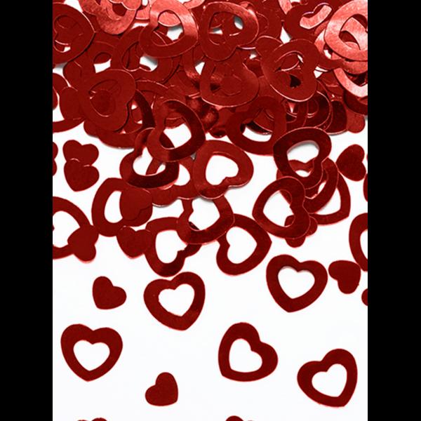 15g Metallickonfetti - Rote Herzen - Mix