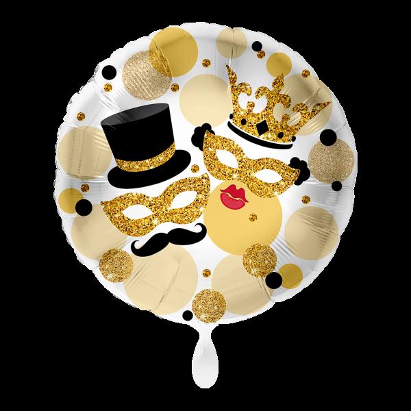 1 Ballon - Masken Glitzer