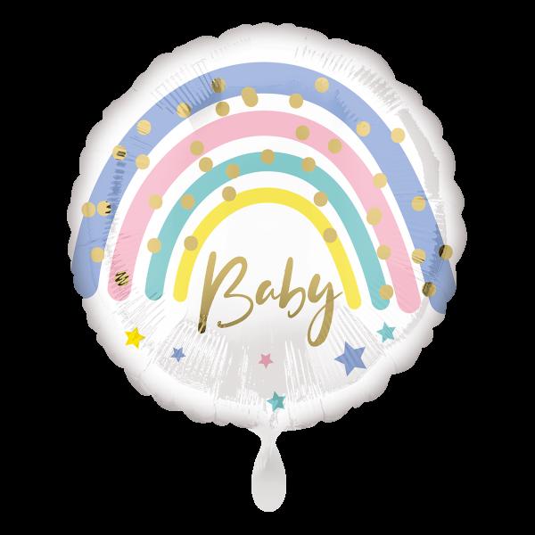 1 Ballon - Pastel Rainbow Baby