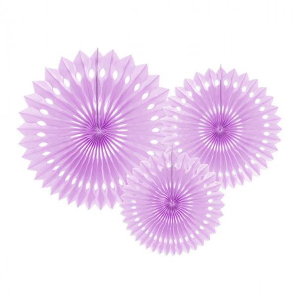 Dekofächer - 3er Set - Lavendel