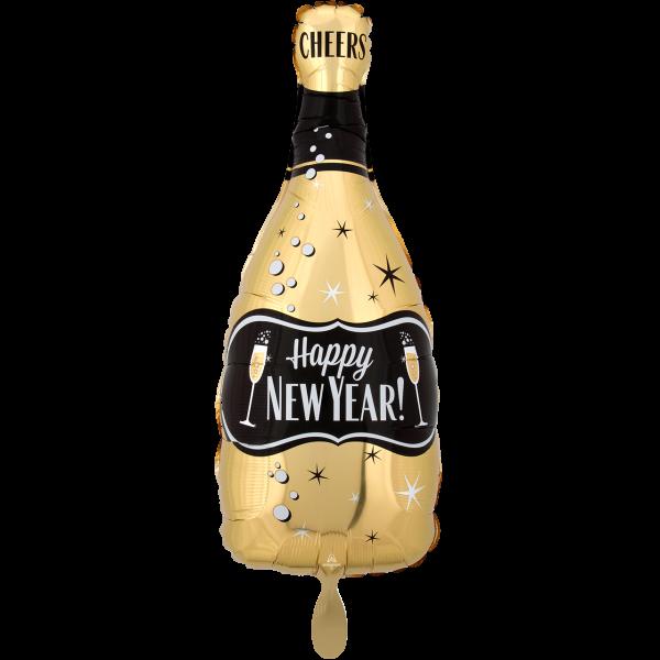 1 Ballon - HNY G&B Bubbly Bottle