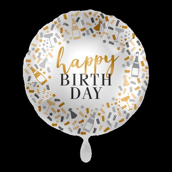 1 Ballon - Hello Happy Birthday