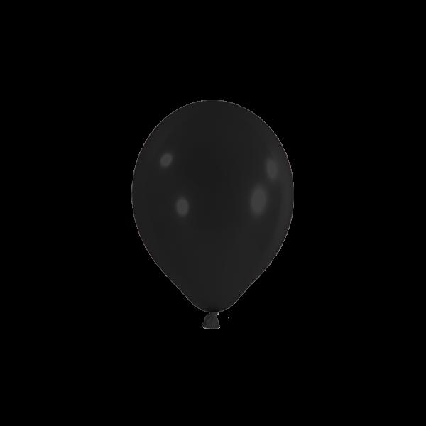 100 Miniballons - Ø 12cm - Schwarz