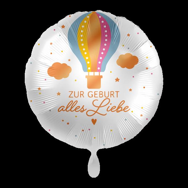 1 Ballon - Zur Geburt Heißluftballon