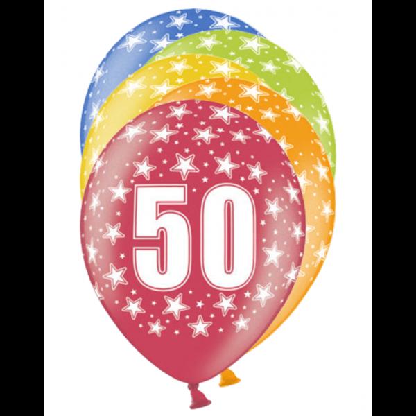 6 Motivballons - Ø 30cm - 50 Celebration