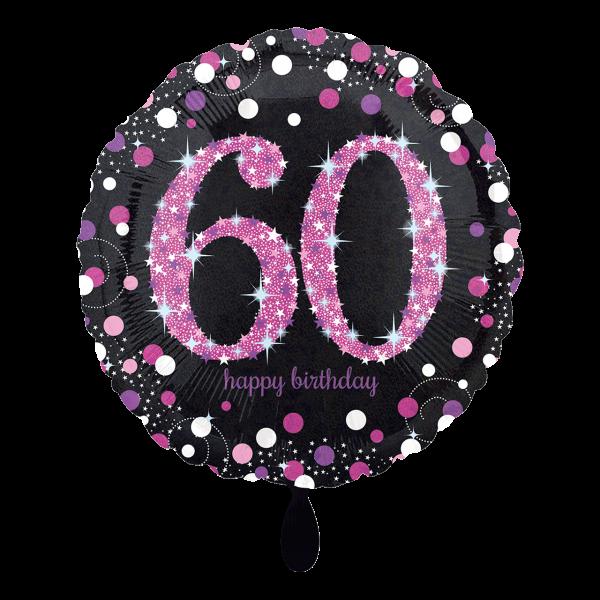 1 Ballon - Pink Celebration 60