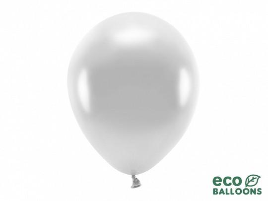 10 ECO-Luftballons - Ø 30cm - Metallic - Silver
