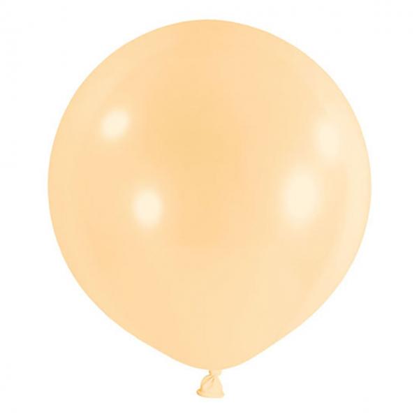 1 Riesenballon - Ø 60cm - Pastell - Pfirsich