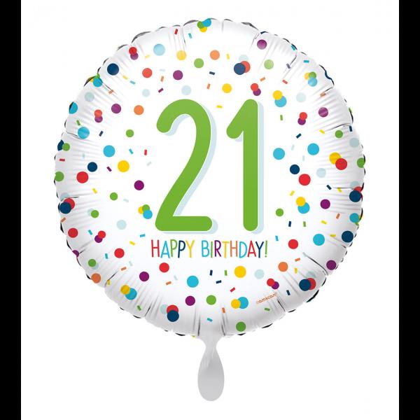 1 Ballon - EU Confetti Birthday 21