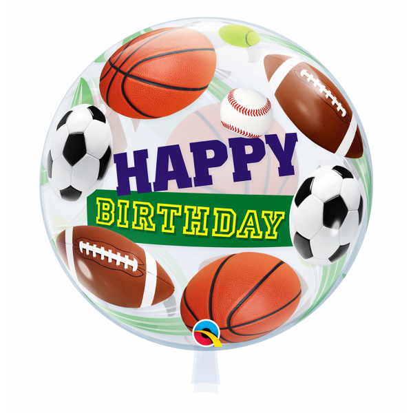 1 Bubble Ballon - Birthday Sport Balls