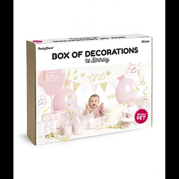 Dekoration Set - 1st Birthday Gold