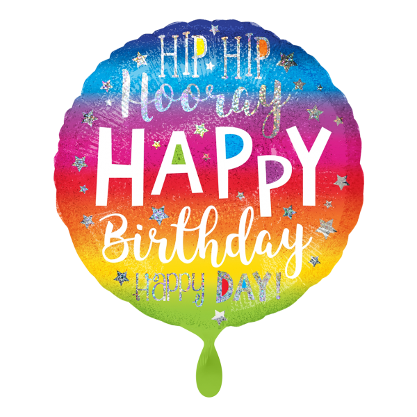 1 Ballon - Hip Hip Hooray Birthday