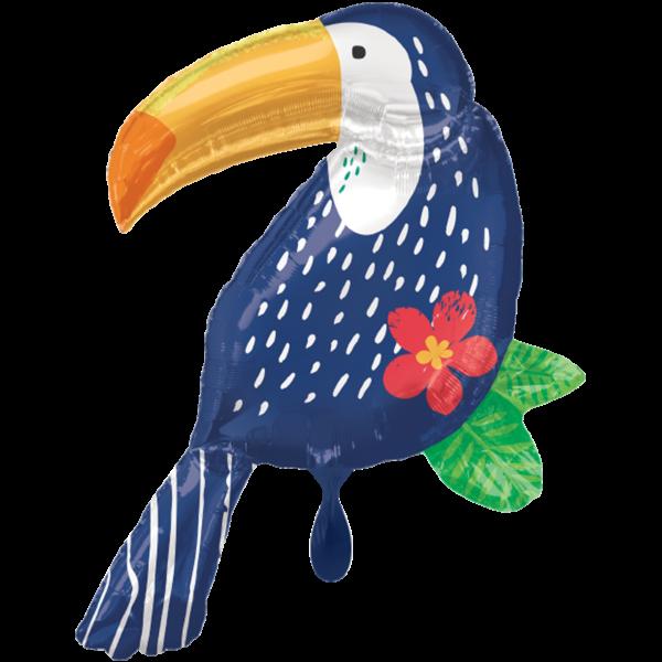 1 Ballon XXL - Tropical Jungle Toucan