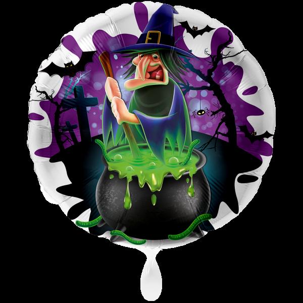 1 Ballon XXL - Böse Hexe