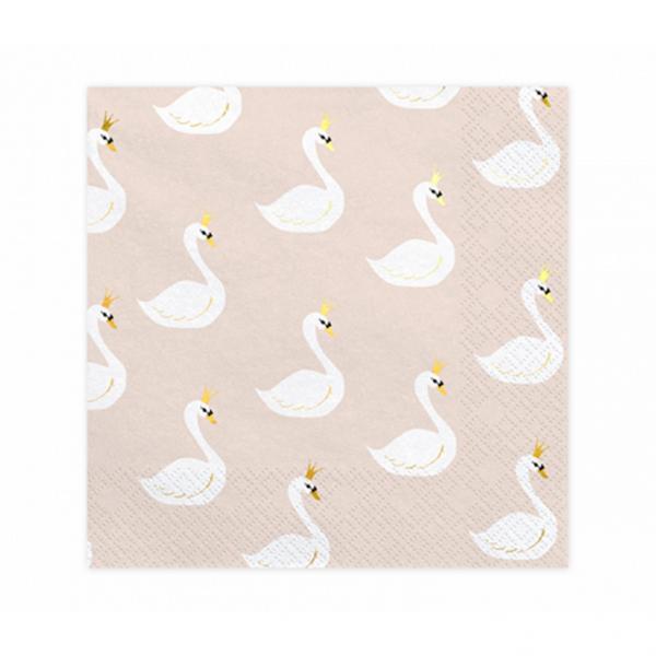 20 Servietten Trend - 33cm - Lovely Swan