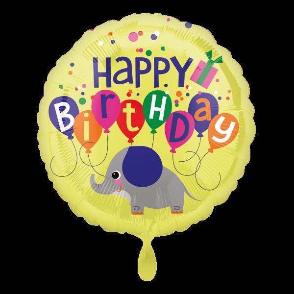 1 Ballon - Elephant Birthday