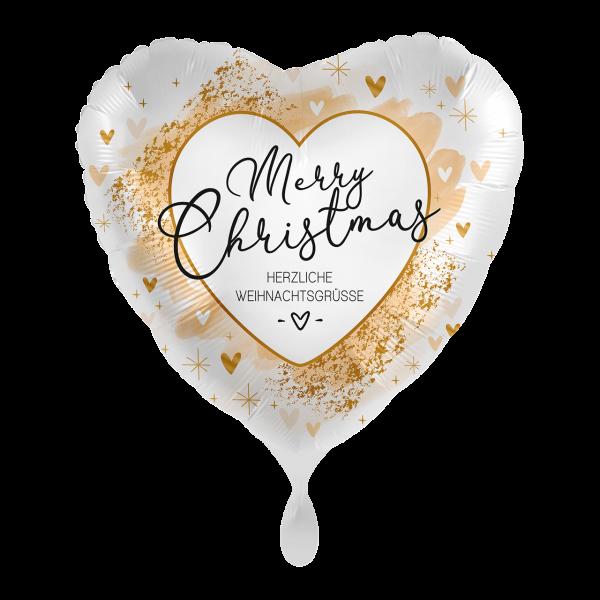 1 Ballon - Smooth Christmas Gold