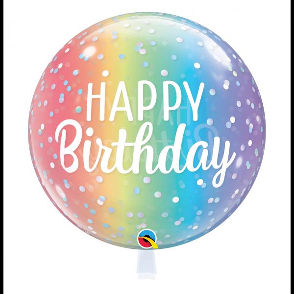 1 Bubble Ballon - Birthday Ombre & Dots