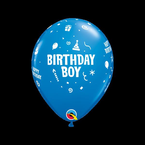 6 Motivballons - Ø 27cm - Birthday Boy