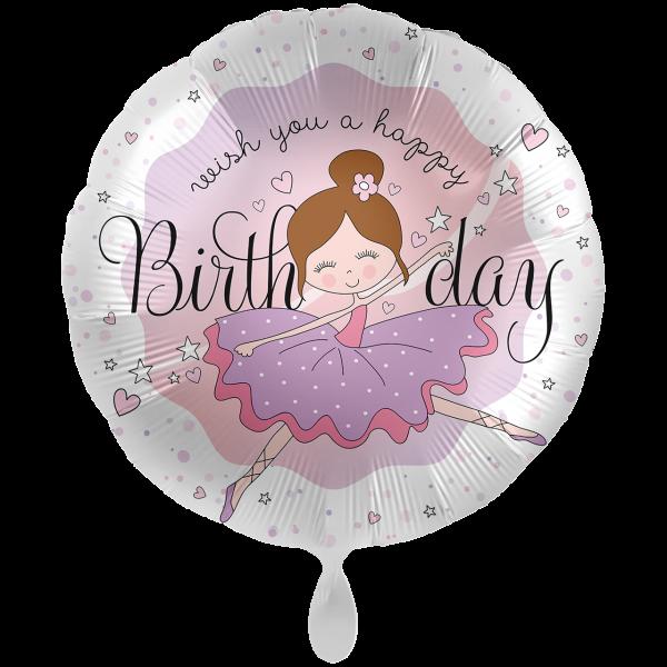 1 Ballon XXL - Dancing Ballerina Birthday