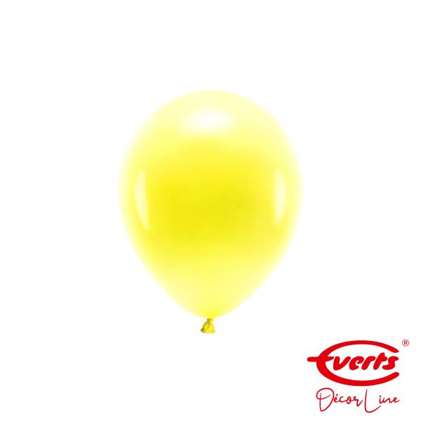 100 Miniballons - DECOR - Ø 13cm - Pearl & Metallic - Sunshine Yellow