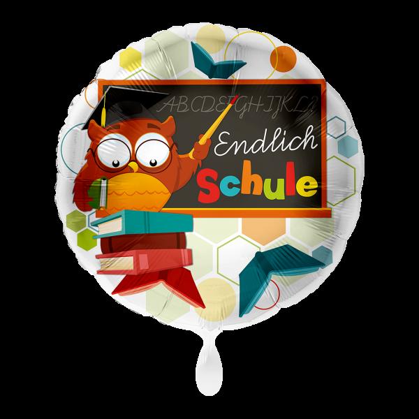 1 Ballon - Eule Endlich Schule