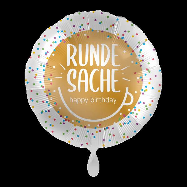1 Ballon - Runde Sache Happy Birthday