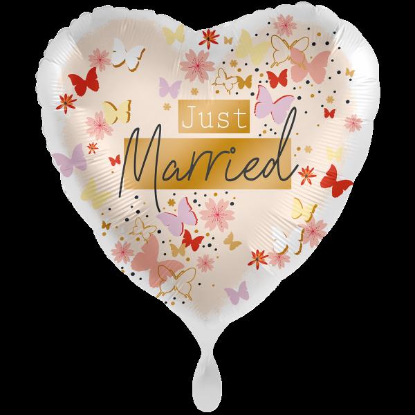 1 Ballon XXL - Just Married Tender Butterflies